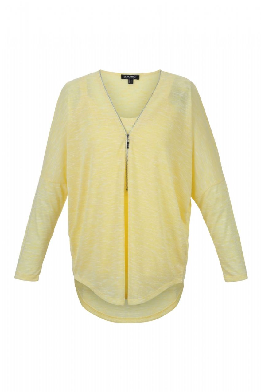 MARBLE Yellow Blouse With Vest Top